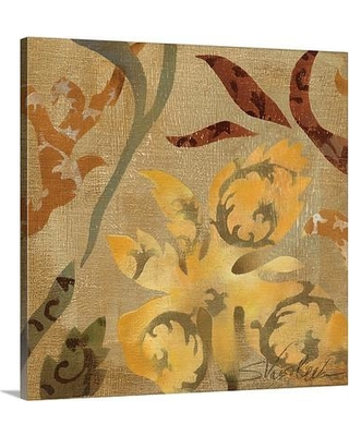 """Canvas On Demand 'Floral Fragment I' by Silvia Vassileva Painting Print on Canvas 1052964_24 Size: 16"""" H x 16"""" W x 1.25"""" D"""