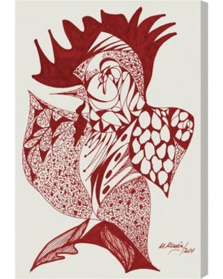 """Brayden Studio Rooster Painting Print on Wrapped Canvas BRYS1537 Size: 24"""" H x 16"""" W x 1.5"""" D"""