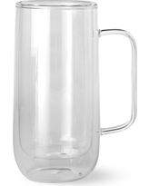 Double-Wall Glass Tall Coffee Mugs, Set of 4
