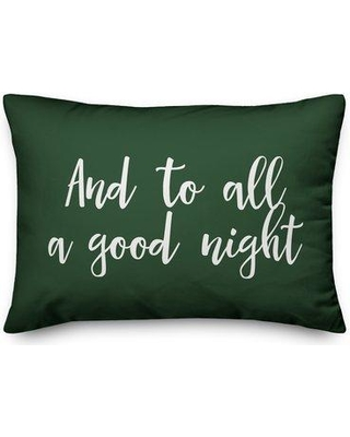 The Holiday Aisle Goin and to All a Good Night Lumbar Pillow W000835155 Color: Dark Green