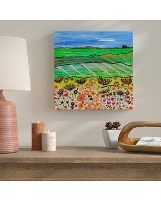 """Bungalow Rose 'Country Ways' Acrylic Painting Print on Wrapped Canvas BGLS5636 Size: 18"""" H x 18"""" W x 2"""" D"""