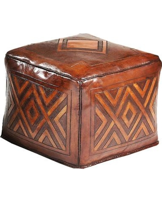 New World Trading Leather Cube Ottoman LO16