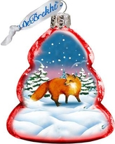 The Holiday Aisle Fox Glass Ornament THLY6709