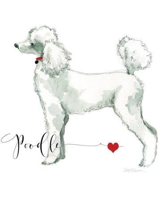 """East Urban Home Must Love Poodles Painting Print on Wrapped Canvas USSC7645 Size: 12"""" H x 12"""" W x 1.5"""" D"""