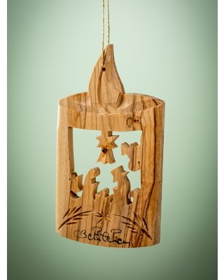 Olive Wood Candle Ornament Earthwood LLC