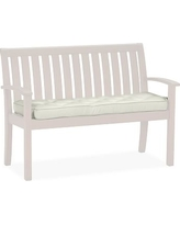 Universal Bench Replacement Cushion, Outdoor Canvas, Natural