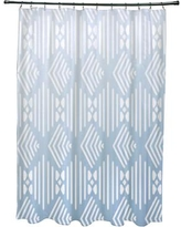 e by design Fishbones Geometric Print Shower Curtain SCGN248 Color: Washed Out