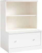 Cameron Bookcase Cubby and Drawer Base, Simply White, Flat Rate