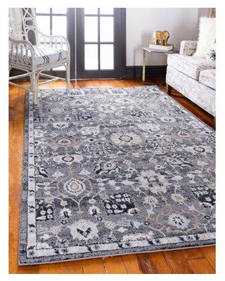 Charlton Home Fulmore Gray Area Rug CHLH5158 Rug Size: Rectangle 9' x 12'