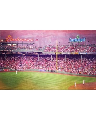 Red Barrel Studio McKew 'Sunset View into Fenway Park' Photographic Print on Wrapped Canvas RDBA8812