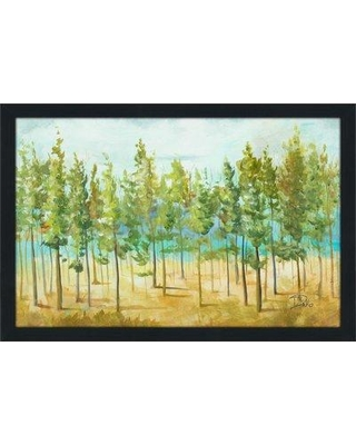 "Millwood Pines 'Bosque Verde' Framed Acrylic Painting Print on Acrylic BF152103 Size: 35.5"" H x 51.5"" W x 0.75"" D"