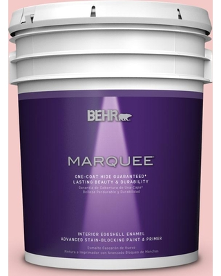 BEHR MARQUEE 5 gal. #T12-20 First Peach Eggshell Enamel Interior Paint and Primer in One