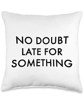 Statement Blend No doubt late for something Throw Pillow, 16x16, Multicolor