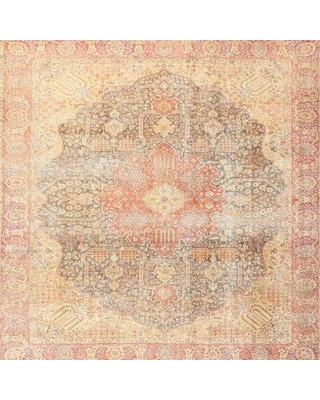 Bloomsbury Market Traditional Beige/Gray/Red Area Rug X112037998 Rug Size: Square 4'