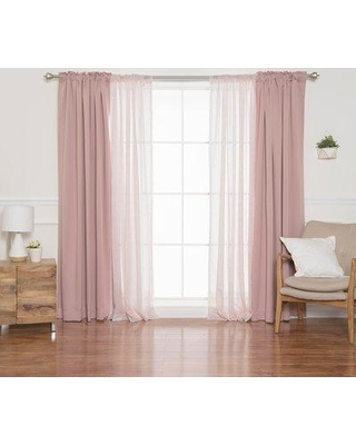 Latitude Run Magner Mix and Match Diamante Solid Blackout Rod Pocket Curtain Panels BI064445 Curtain Color: Dusty Pink/Pink