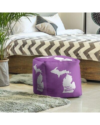 East Urban Home Home Sweet Detroit Cube Ottoman EBJC3407 Upholstery Color: Violet
