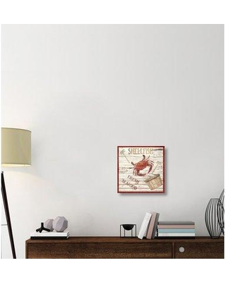 "East Urban Home 'Fresh Seafood' Graphic Art Print on Canvas ERBR2043 Size: 18"" H x 18"" W x 1.5"" D Format: Wrapped Canvas Matte Color: No Matte"