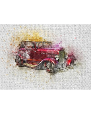 Car Pink Area Rug East Urban Home Rug Size: Rectangle 5' x 7'