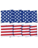 Victory Tailgate Stars and Stripes Regulation Corn-Filled Cornhole Bags (Set of 8)