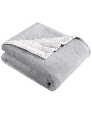 Eddie Bauer Ultra-Plush Collection Throw Blanket - Reversible Sherpa Fleece Cover, Soft & Cozy, Perfect for Bed or Couch, King, Chrome Grey