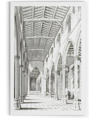 "Wexford Home 'Vintage Venitian Stencil I' Drawing Print on Wrapped Canvas HAC17-J27- Size: 36"" H x 24"" W x 1.5"" D"