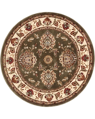 Well Woven Timeless Abbasi Green Traditional Oriental 8 ft. x 8 ft. Round Area Rug