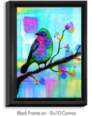 """DiaNocheDesigns 'Unchained' by Robin Mead Painting Print on Wrapped Framed Canvas DNOC2085 Frame Color: Black Size: 41.75"""" H x 31.75"""" W x 1.75"""" D"""