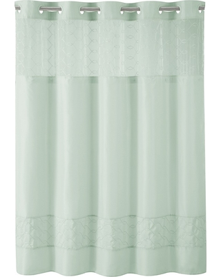 Solid Shower Curtain Blue