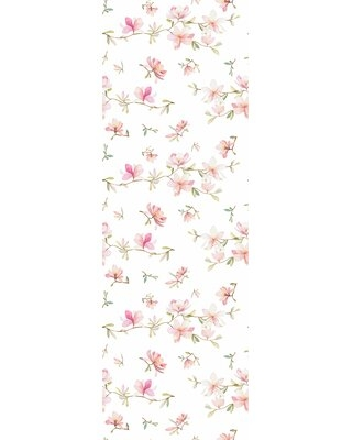 """Majeic Removable Soft Flowers 10' L x 25"""" W Peel and Stick Wallpaper Roll Ophelia & Co."""