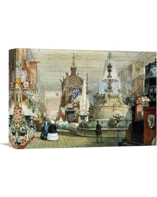 """Global Gallery 'The Great Exhibition Held in The Crystal Palace London' by Eugene Louis Lami Painting Print on Wrapped Canvas GCS-266717- Size: 11.2"""" H x 16"""" W x 1.5"""" D"""