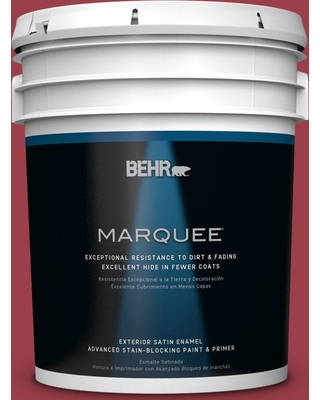 BEHR MARQUEE 5 gal. Home Decorators Collection #hdc-CL-01 Timeless Ruby Satin Enamel Exterior Paint & Primer