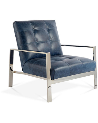 Shopping Special Theo Accent Chair Ocean Leather Massoud Furniture