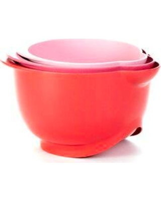 Bamboozle Sustaina 3 Piece Bamboo Mixing Bowl Set 8143020263 Color: Red