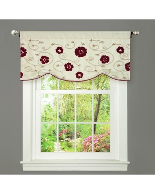 Copper Grove Halkett Red and Beige Window Valance (Valance)