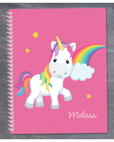Spark & Spark Notepads and Notebooks - Pink Rainbow Unicorn Personalized Notebook