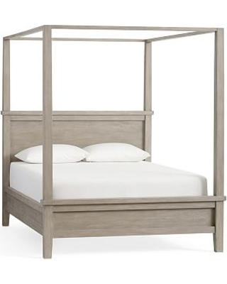 Farmhouse Canopy Bed Cal. King Gray Wash  sc 1 st  Better Homes and Gardens & Incredible Spring Deals on Farmhouse Canopy Bed Cal. King Gray Wash