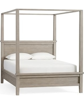 Farmhouse Canopy Bed, Cal. King, Gray Wash