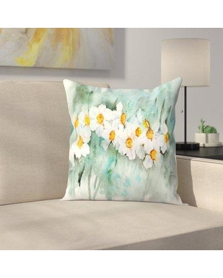 """East Urban Home Narcissus in line Throw Pillow ETHF2851 Size: 16"""" x 16"""""""