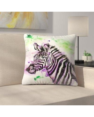 "East Urban Home Zebra Throw Pillow EUNM6847 Size: 18"" x 18"""