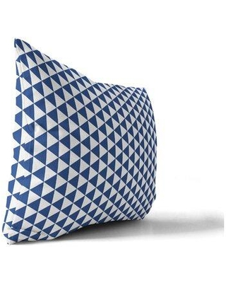 Wrought Studio Mendes Triangle Lumbar Pillow W001721252 Color: Blue