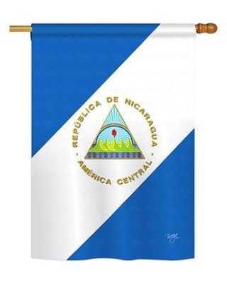 Amazing Savings On Breeze Decor Nicaragua 2 Sided Polyester House Flag In Yellow Blue Green Size 18 5 H X 13 W Wayfair Bd Cy G 108160 Ip Bo Ds02 Us