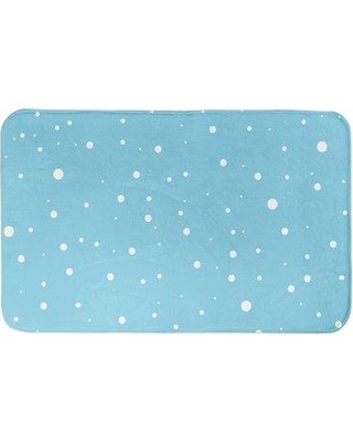 The Holiday Aisle Margery Snow Pattern Bath Rug W000931090 Color: Light Blue