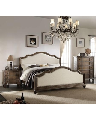 Baudouin Collection 26104CK3SET 3 PC Bedroom Set with California King Size Bed Chest and Nightstand in Weathered Oak