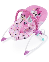 Bright Starts Disney Baby Minnie Mouse Stars and Smiles Infant To Toddler Rocker - Pink