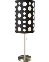 Spotted Table Lamp - Brushed Steel, Black