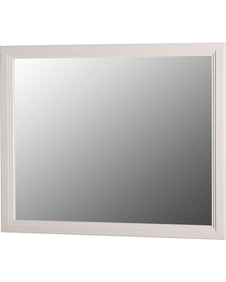 Home Decorators Collection Brinkhill 31 in. W x 26 in. H Wall Mirror in Cream (Ivory)