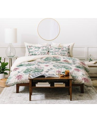 East Urban Home Belle Water Lily Lake Single Duvet Cover ERBH4774 Size: Queen