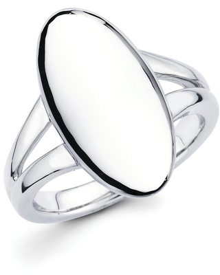 Sterling Silver Oval Fashion Ring (7)