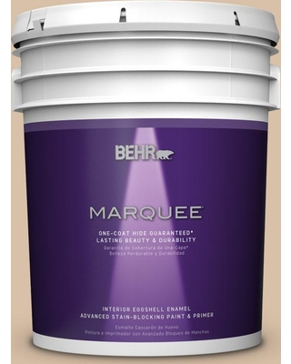 BEHR MARQUEE 5 gal. #S240-3 Ash Blonde One-Coat Hide Eggshell Enamel Interior Paint and Primer in One
