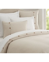 Wheaton Stripe Duvet Cover, Full/Queen, Flax